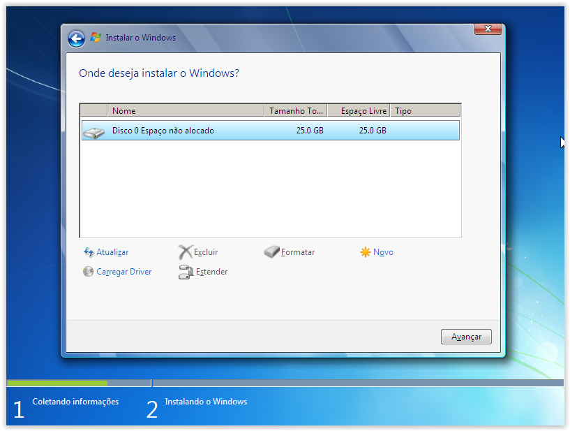 Como formatar o windows 7