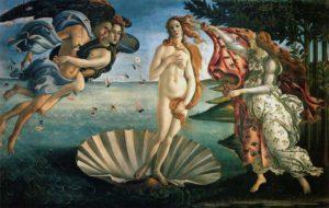 Renascimento - Nascimento de Vênus de Sandro Botticelli